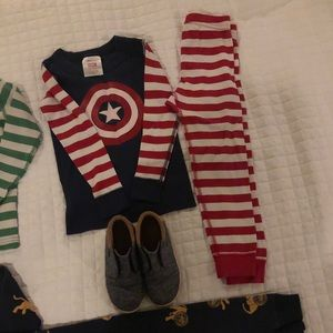 3 Hanna Andersson 4 pjs and toddler 9 toms